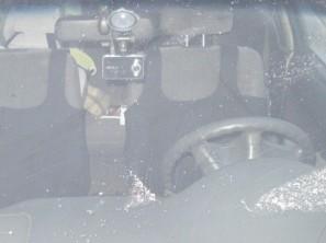 Установленный в автомобиль видеорегистратор