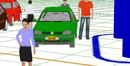 Пример зон обзора видеокамер в IP Video System Design Tool