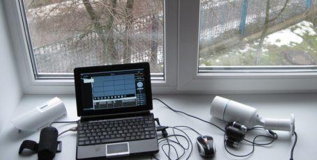 Пример работы IP камеры с ИК подсветкой
