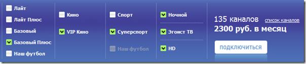 Стоимость подключение 135 каналов НТВ+ (официально)