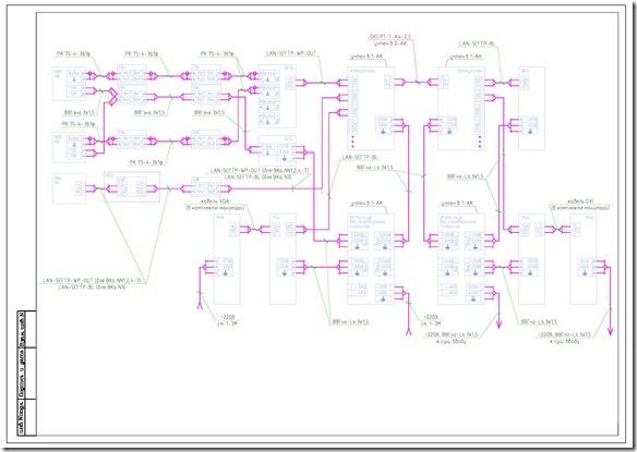 Электрические схемы подключений IP, аналоговых камер