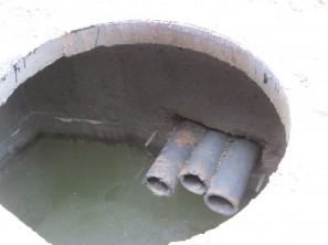 Кабельная канализация - колодец без заделки