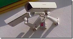 Камера стандартная в термокожухе на стене